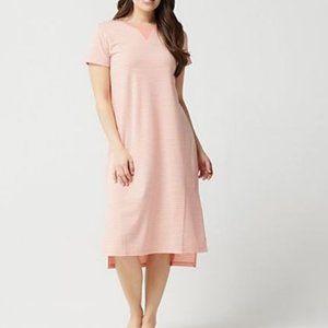 AnyBody Cozy Knit Striped Dress 3955